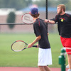 10-3-13<br /> Tennis sectional<br /> Taylor 1 doubles Austin Douglas and Cole Schroeder<br /> KT photo | Kelly Lafferty