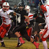10-25-13<br /> Western vs. Mississinewa football<br /> Ben Lenahan runs the ball for Western.<br /> KT photo | Kelly Lafferty