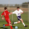10-9-13<br /> Northwestern vs. Rossville soccer<br /> Rossville's Nolan Anderson and Northwestern's Cameron Cothern<br /> KT photo | Kelly Lafferty