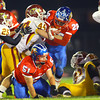 11-1-13  --  Sectional Football between KHS and McClutcheon  --  Kokomo's Jeron Gray running it through the middle in the 2nd quarter.<br />   KT photo | Tim Bath