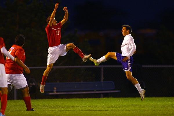 10-17-13  --  Regional Boys Soccer Northwestern vs Western Boone HS<br /> <br />   KT photo | Tim Bath