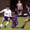 10-19-13<br /> Northwestern vs. Guerin Catholic Regional title game<br /> Northwestern's Daniel Hernandez and Guerin Catholic's Khalid Hunter.<br /> KT photo | Kelly Lafferty