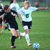 10-10-13<br /> Eastern vs. Sheridan soccer<br /> Sheridan's Carolyn Quick and Eastern's Elena White <br /> KT photo | Kelly Lafferty