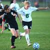 10-10-13<br /> Eastern vs. Sheridan soccer<br /> Sheridan's Carolyn Quick and Eastern's Elena White <br /> KT photo | Kelly Lafferty