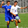 10-12-13  --- Sectional Boys Soccer - NWHS vs Tipton HS  -- Tipton's Jake Tragesser and NW's Blaine Brutus battling for the ball in Saturday's game.<br />   KT photo | Tim Bath