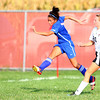 10-2-13<br /> Kokomo vs. Western girls soccer<br /> Cheyenne Eltringham makes a shot for the goal before Western's Autumn Brady can stop her.<br /> KT photo | Kelly Lafferty