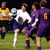 10-19-13<br /> Northwestern vs. Guerin Catholic Regional title game<br /> Northwestern's Robert Olsen and Guerin Catholic's David Torres and Zach Garvey.<br /> KT photo | Kelly Lafferty