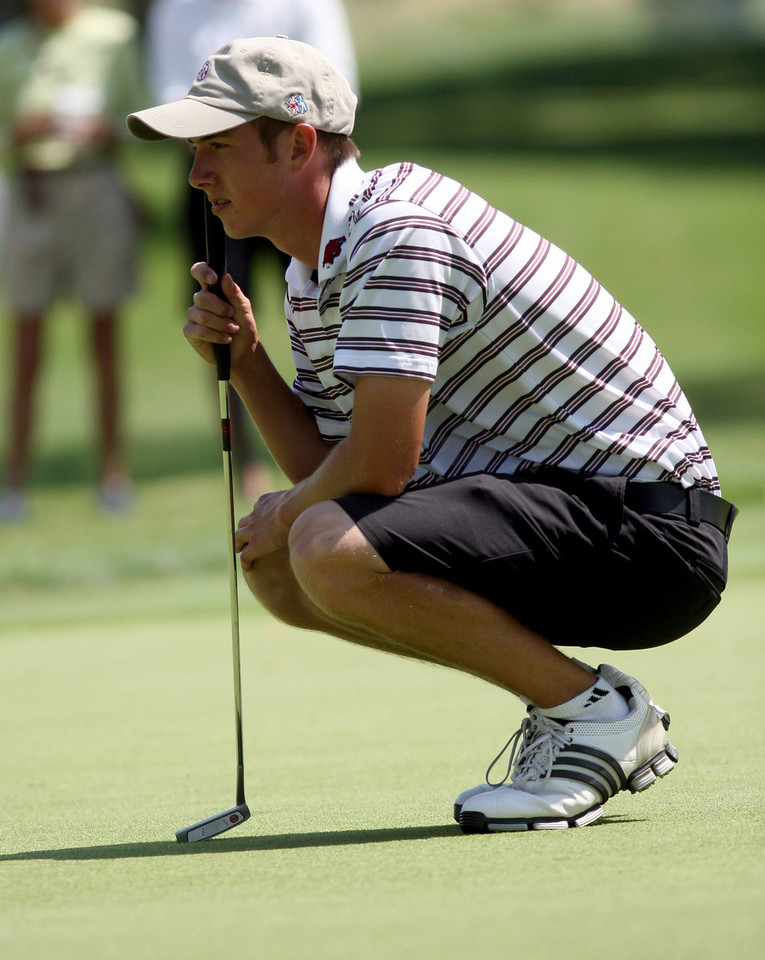 E.L. Hubbard Photography<br /> Ethan Tracy, from Hilliard, during the Ohio Amateur at Moraine Country Club Friday, July 17, 2009.