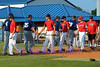 The Outlaws shaking hand with the opposing team after the game.
