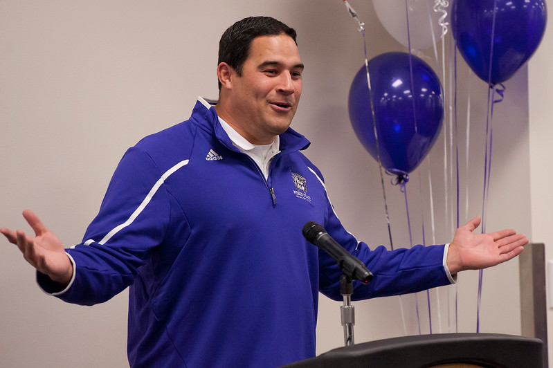 Justin Ena is in his first season as defensive coordinator at WSU. He joined the Weber State in December 2013 On February 5 2014. (Brian Wolfer Special to the Standard-Examiner)