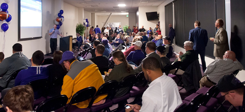 Ogden community gathers to see the 2014 signing class.  At Stewart Stadium at the WSU campus On February 5 2014. (Brian Wolfer Special to the Standard-Examiner)