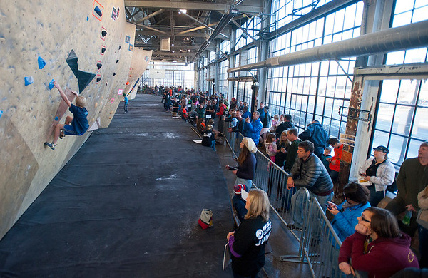 Over 200 of the top climbers compete in the ABS National Climbing Championships. At the Front Climbing Gym in Ogden on December 10, 2014.