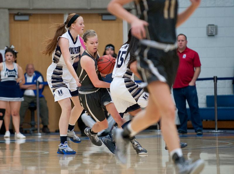 Davis defeats Hunter High School. At the Girls State Basketball Tournament. At Salt Lake Community College on February 16, 2015