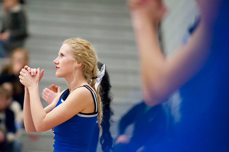 Fremont Cheerleaders keep their team pumped up during the game vs Davis. At Fremont High School On January 14  (Brian Wolfer Special to the Standard-Examiner)