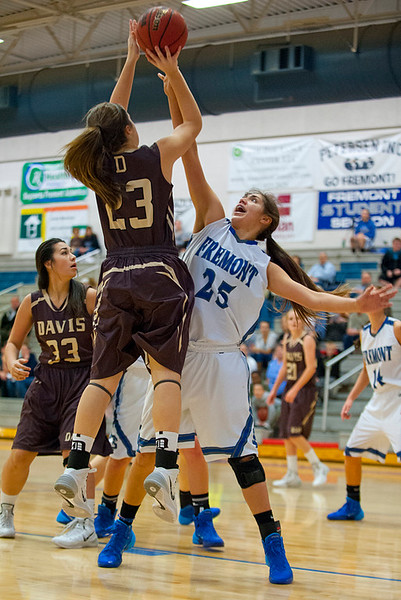 Meaghan David goes for the short jump shot during a exhibition game at Fremont High School. On January 14  (Brian Wolfer Special to the Standard-Examiner)
