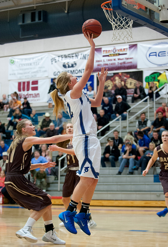 Shaylee Higley goes for the easy layup. At Fremont High School On January 14  (Brian Wolfer Special to the Standard-Examiner)