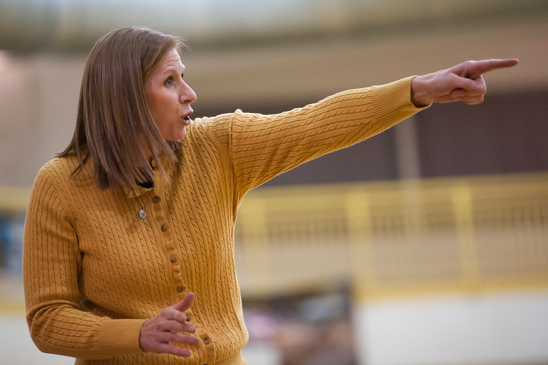 Davis head coach Anne Jones tries to point out a foul that happened to her player. At Davis High School in Kaysville. On January 28 2014. (Brian Wolfer Special to the Standard-Examiner)