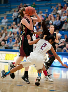 Viewmont High School prevails over Granger High School during the Girls State Basketball Tournament. At Salt Lake Community College on February 16, 2015.