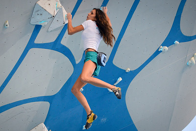 Jacinda Hunter competes in the Psicobloc Masters Series. At the Utah Olympic Park in Park City, on August 2, 2013.(Brian Wolfer Special to the Standard-Examiner)