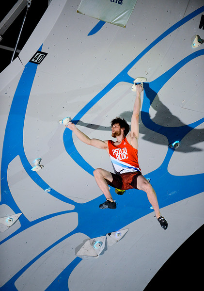 Jimmy Webb competes in the Psicobloc Masters Series. At the Utah Olympic Park in Park City, on August 2, 2013.(Brian Wolfer Special to the Standard-Examiner)