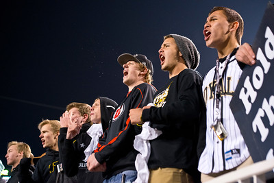 Roy Fans cheer on their team  during the first quarter of the 4-A Championship game. At Rice-Eccles Stadium. On November 21, 2014 In Salt Lake City
