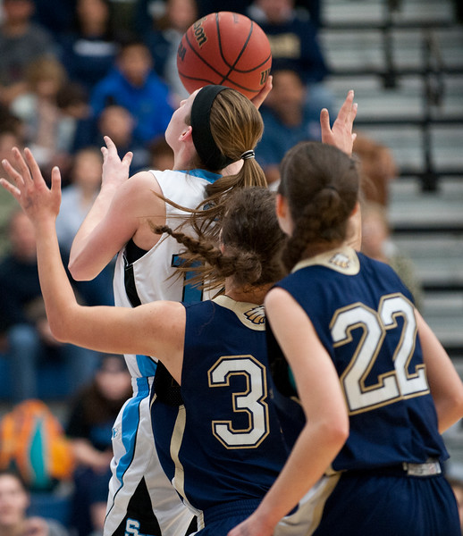 Skyview vs Skyline at the Girls Basketball State Championships. At Salt Lake Community College on February 21, 2015.