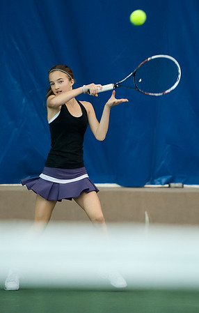 Home schooled Mackenzie Turley participates in the tennis program at Ogden Athletic Club. In Ogden, On February 24, 2014. (Brian Wolfer Special to the Standard-Examiner)