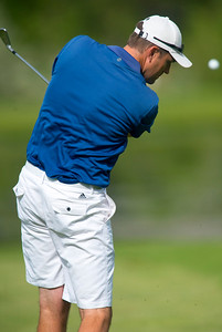 David Jennings hits a fairway shot during the Utah Mid-Amateur Championship held at View Golf Course In Layton on June 4, 2015.