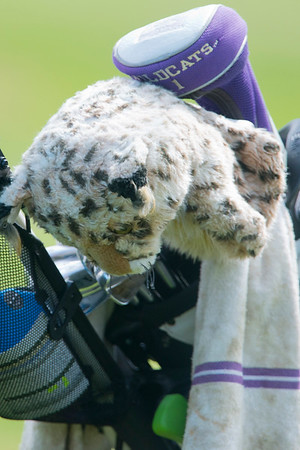 Weber State graduate Kurt Owen uses is weber golf covers at the  Utah Mid-Amateur Championship held at View Golf Course In Layton on June 4, 2015.