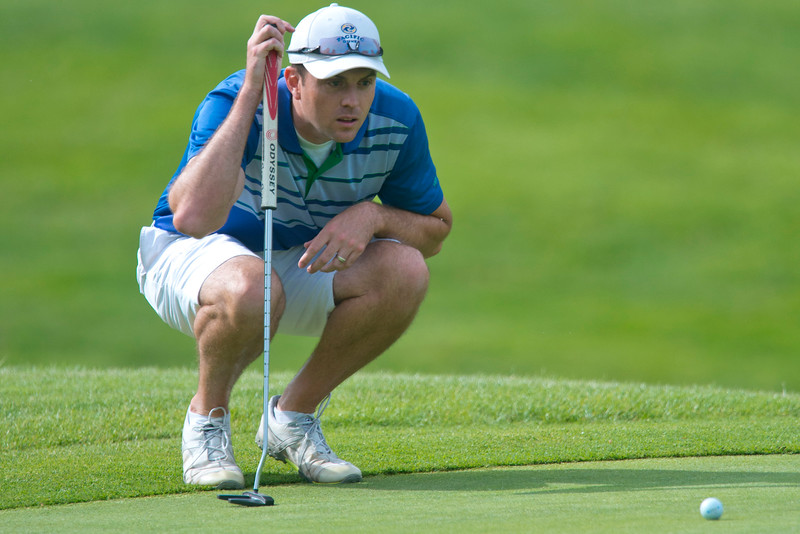 David Jennings competes in the Utah Mid-Amateur Championship held at View Golf Course In Layton on June 4, 2015.