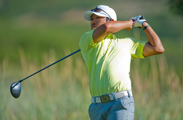 Layton Local Brandon Kida drives the ball during the Utah State Amateur Championship held at Soldier Hollow Golf Course in Midway on July 10, 2015.
