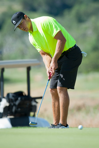 Jordan Rogers makes a short putt at the Utah State Amateur Championship held at Soldier Hollow Golf Course in Midway on July 10, 2015.