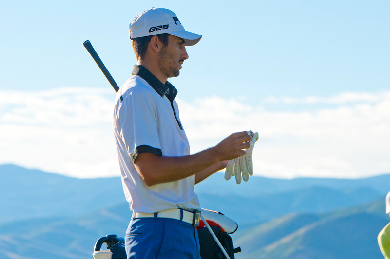Joe Parkinson competes in the Utah State Amateur Championship held at Soldier Hollow Golf Course in Midway on July 10, 2015.