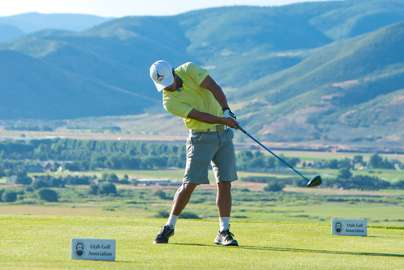 Brandon Kida competes in the Utah State Amateur Championship held at Soldier Hollow Golf Course in Midway on July 10, 2015.
