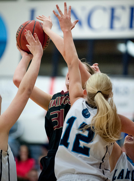 Viewmont High School vs Layton girls basketball. At Layton High School on February 10, 2015.