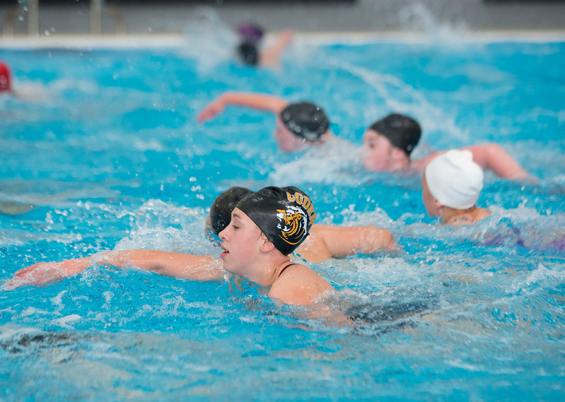 Weber High's water polo team practices shortly after school. Water Polo is not sanctioned by the UHSAA. At Ogden High School on April 16, 2015.