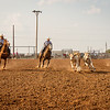 Trp Townsend and the Spike Cattle Company rope and doctor calves during the Ranch Rodeo. Taken at Oliver Saddle Shop Ranch Rodeo held at Range Riders in Amarillo, TX on July 28, 2018. [Shaie Williams for Amarillo Globe News]