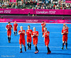 Team GB applaud the fans.   Final score 2-2