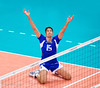 Men's Volleyball, Bronze Medal Match, Italy vs Bulgaria.   Italy's Birarelli celebrates their Bronze medal victory