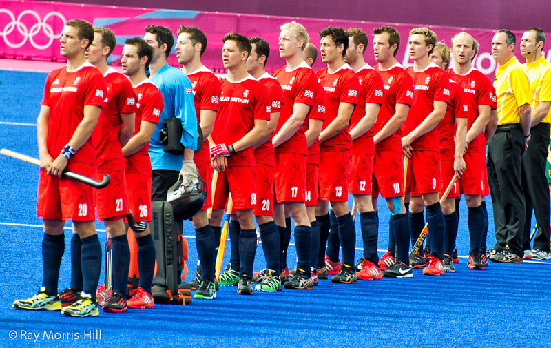 Team GB sing the National Anthem
