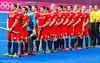 Team GB sing the National Anthem