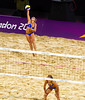 Argentina were the crowd's favourite in the Women's Beach Volleyball.  They lost to USA.