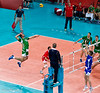 Men's Volleyball, Bronze Medal Match, Italy vs Bulgaria.   Sokolov in action for Bulgaria