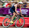 Men;s Triathlon, 7 August 2012.  Jonny Brownlee concentrates on the bike