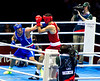 Olympic Boxing Semifinals, 10 August 2012.  The final bout, Mammadov (Azebaijan) vs Russo (Italy) in the Heavy weight division.  Russo fought well to win the bout.