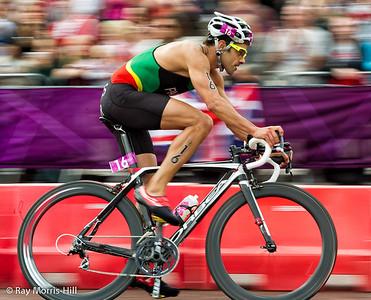 Men's Triathlon, 7 August 2012.  Bruno Pais of Portugal