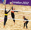 Brazil take on Netherlands in Women's Beach Volleyball