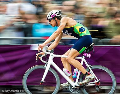 Diogo Sclebin (BRA) in the Men's Triathlon