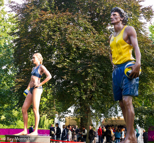 Beach Volleyball statues in St James's Park