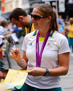 Welcome home to Aussie Olympic Athletes; Queen Street Mall,City, Brisbane, Queensland, Australia; 24 August 2012. Photos by Des Thureson - http://disci.smugmug.com. (Camera 1)
